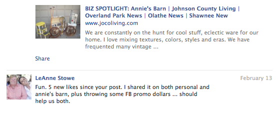 Annie's Barn Advertiser Feedback